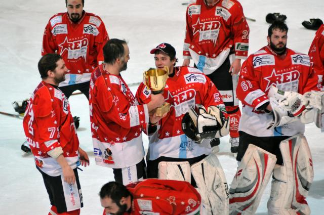Red Ice after winning the 2011 league championship, where they won every season game
