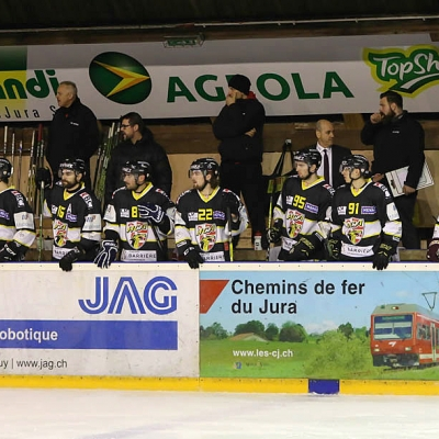 Swiss League : HC Ajoie - Martigny Red Ice HC le 24/02/2017 (par Mauricette Schnider)
