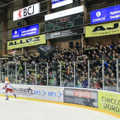 Swiss League : HC Ajoie - SC Rapperswil-Jona Lakers le 16/03/2018 (par Mauricette Schnider)